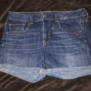 American Eagle Medium Wash Jean Shorts